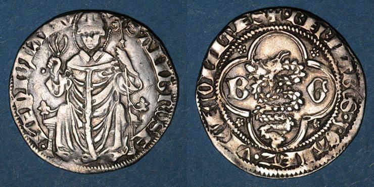 1355-1378 EUROPA Italie. Milan. Barnabé et Galeazzo II Visconti (1355-1378). Grosso de 2 soldi ss