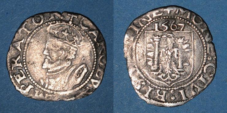 1567 ANDERE FEUDALE MÜNZEN Franche Comté. Cité de Besançon. Carolus 1567 s+
