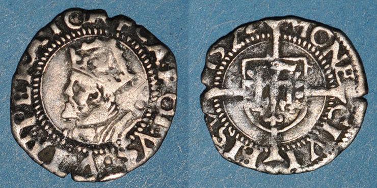 ANDERE FEUDALE MÜNZEN Franche Comté. Cité de Besançon. Blanc (= 1/2 carolus) 157(2?) s+