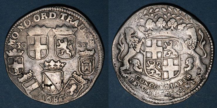 1685 EUROPA Pays Bas. Utrecht. Daldre 1685 Quelques petites craquelures sinon ss