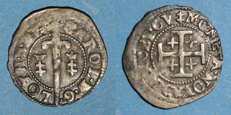 1625-1634 LOTHRINGEN Duché de Lorraine. Charles IV, 1er règne (1625-1634). Double denier. Nancy Peu courant, s-ss