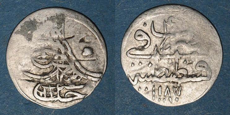 1187H ISLAM Anatolie. Ottomans. Abd al-Hamid I (1187-1203H). Para 1187H / an 4, Constantinople s