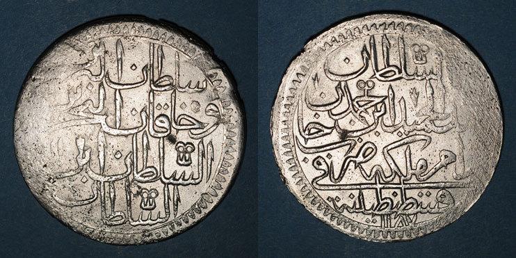1187H ISLAM Anatolie. Ottomans. Abd al-Hamid I (1187-1203H). Double zolota 1187H / an 11, Constantinople Faiblesse de frappe sinon s-ss