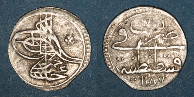 1187H ISLAM Anatolie. Ottomans. Abd al-Hamid I (1187-1203H). Para 1187H / an 7, Constantinople ss