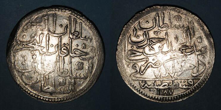 1187H ISLAM Anatolie. Ottomans. Abd al-Hamid I (1187-1203H). Double zolota 1187H / an 6, Constantinople s+