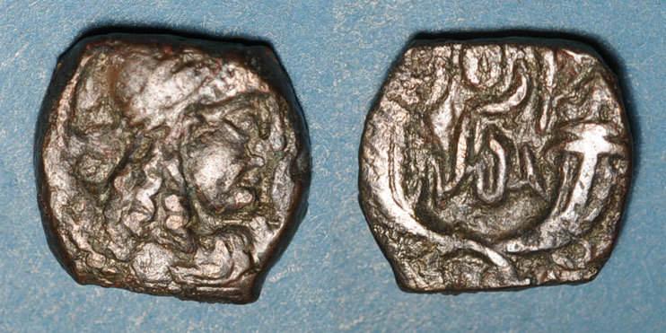 vers 85-102 n. Chr. GRIECHISCHE MÜNZEN Arabie. Royaume de Nabathée. Rabbel II (70-106) et Gamilat. Bronze, vers 85-102 s / s-ss