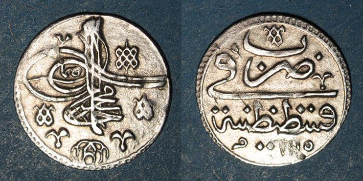 1115H ISLAM Anatolie. Ottomans. Ahmad III (1115-1143H). Para 1115H, Qustantiniya R ! Petite fente / revers, ss+