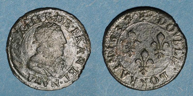 1637 FRANZÖSISCHE KÖNIGLICHE MÜNZEN Louis XIII (1610-1643). Double lorrain, 4e type, 1637. Stenay s / s+