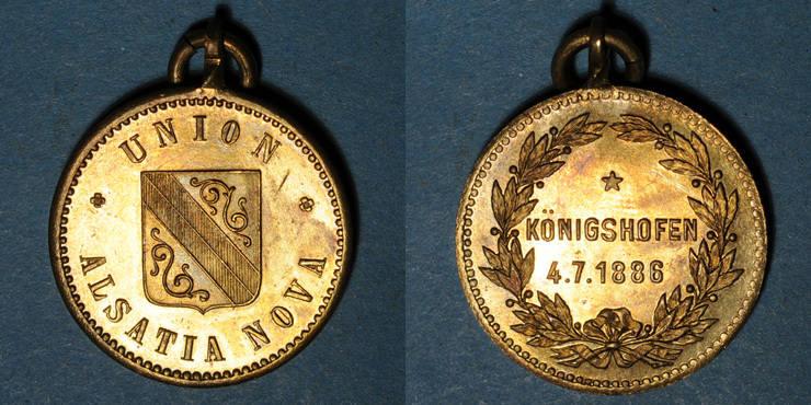 1886 ELSAß Alsace. Strasbourg. Union sportive