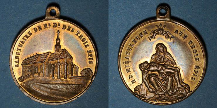 ELSAß Trois Epis. Sanctuaire de Notre Dame des Trois Epis (19e). Médaille bronze ss-vz