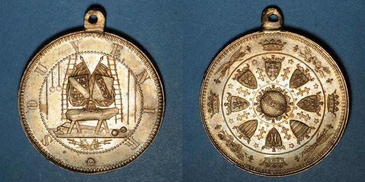 ELSAß Tournoi de gymnastique d'Alsace-Lorraine - Souvenir. Médaille bronze. 36,36 mm Très finement gravée, vz