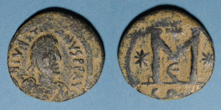 527-538 n. Chr. BYZANZ Empire byzantin. Justinien I (527-565). Follis. Constantinople, 5e officine, 527-538 s
