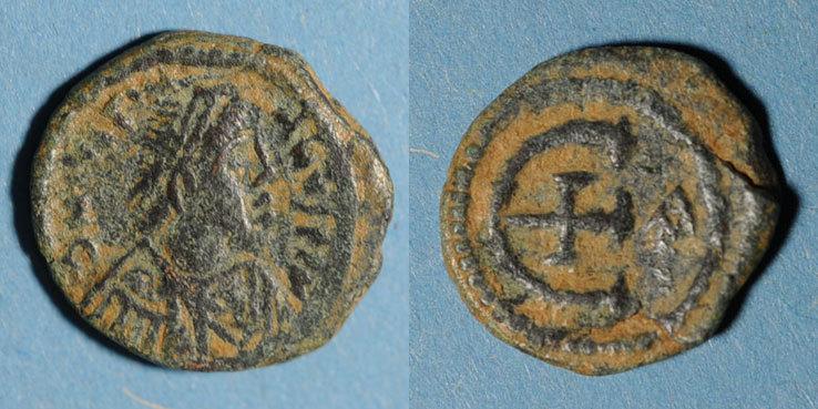 529-539 n. Chr. BYZANZ Empire byzantin. Justinien I (527-565). Pentanoummion. Antioche, 1ère officine, 529-539 s+