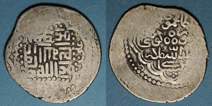 vers 792-803H ISLAM Caucase. Timurides. Timur et Mahmoud Jaghatay (vers 792-803H). Tanka, Gushtaspi (RR) R ! R ! s