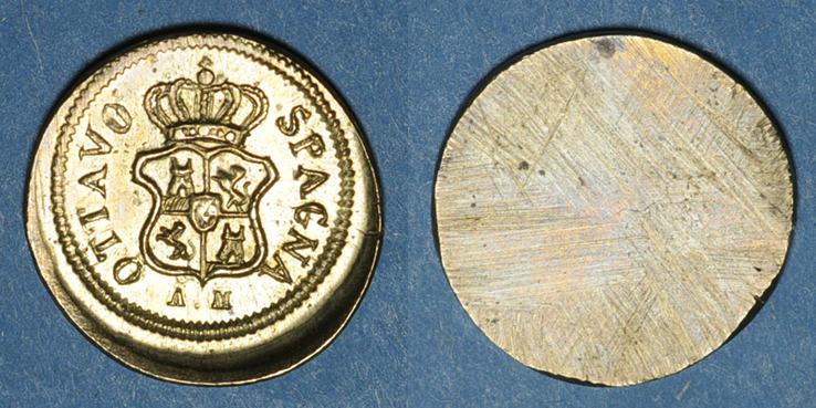 1821 GEWICHTE Espagne. Poids monétaire de l'escudo (1537 à 1821). Fabrication italienne vz
