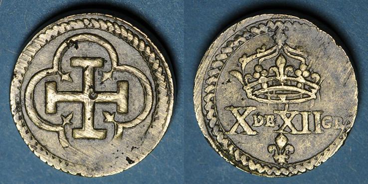 GEWICHTE Espagne. Poids monétaire de la quadruple pistole de Charles Quint milieu du XVIIIe ss