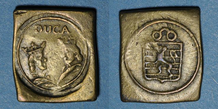 1474-1504 GEWICHTE Espagne. Poids monétaire du ducat de Ferdinand et Isabelle (1474-1504) R ! R ! Faiblesse à l'avers, ss