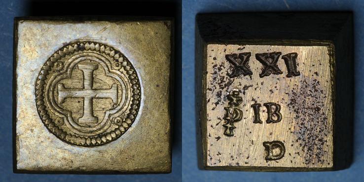 GEWICHTE Espagne. Poids monétaire de l'octuple pistole de Charles Quint milieu du XVIIIe R ! vz / ss