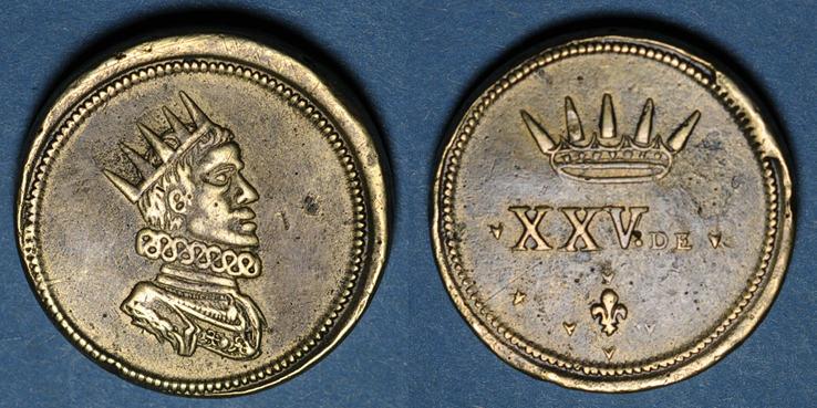 1621-1665 GEWICHTE Italie. Milan. Poids monétaire du ducaton de Philippe IV d'Espagne (1621-1665) R ! R ! Poids de grand module, ss