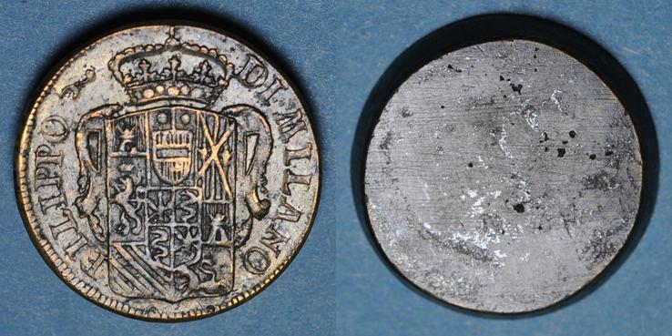 GEWICHTE Italie. Milan. Poids monétaire de l'écu philippe de Philippe III d'Espagne R ! R ! R ! ss+