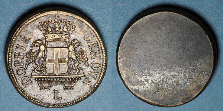 1792-1793 GEWICHTE Italie. Gênes. Poids monétaire de la pièce de 96 lires (quadruple de Gênes, 1792-1793) R ! ss+