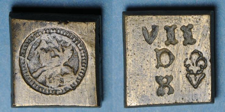 1560-1574 GEWICHTE Charles IX (1560-1574). Poids monétaire du demi-teston R ! R ! s+ / ss