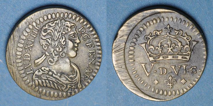 1640 GEWICHTE Louis XIII (1610-1643) et Louis XIV (1643-1715). Poids monétaire du louis de 1640 à 1704 ss+ / ss