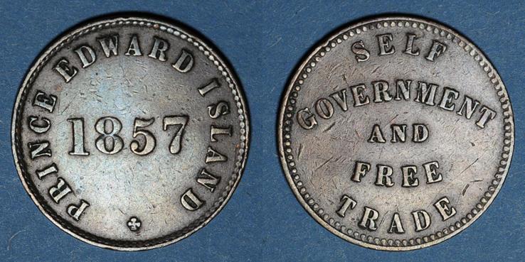 1857 WELTMÜNZEN A bis G Canada. Ile du Prince Edouard. 1/2 penny 1857 Très petit choc / listel, ss
