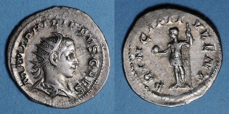 245-246 n. Chr. RÖMISCHE KAISERZEIT Philippe II, césar sous Philippe I (244-247). Antoninien. Rome, 245-246. R/: Philippe ss+