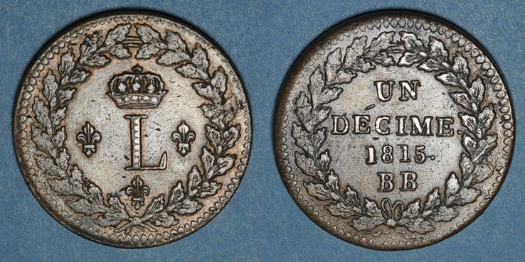1815 Bb Französische Moderne Münzen 2e Restauration 1815 24 2e