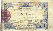 19.9.1915 FRANZÖSISCHE NOTSCHEINE Aisne et  Ardennes - Bon régional, L... 6,00 EUR  zzgl. 7,00 EUR Versand