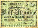 DEUTSCHLAND - NOTGELDSCHEINE (1914-1923) A - J  Borkum. Gemeinde. Billet. 5 pfennig 28.6.1917