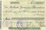 DEUTSCHLAND - NOTGELDSCHEINE (1914-1923) A - J  Bremerhaven. Stadt. Billet. 1 000 mark 12.9.1922