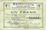 FRANZÖSISCHE NOTSCHEINE  Bantouzelle (59). Commune. Billet. S.Q.G., 1 franc 8.8.1916
