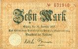 DEUTSCHLAND - NOTGELDSCHEINE (1914-1923) A - J  Cassel. Stadt. Billet. 10 mark n. d. - 31.1.1919, série N