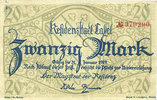DEUTSCHLAND - NOTGELDSCHEINE (1914-1923) A - J  Cassel. Stadt. Billet. 20 mark n. d. - 31.1.1919