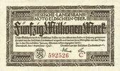 DEUTSCHLAND - NOTGELDSCHEINE (1914-1923) A - J  Allemagne. Hessische Landesbank. Darmstadt 1923. Billet. 50 millions mark, série