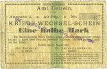DEUTSCHLAND - NOTGELDSCHEINE (1914-1923) A - J  Datteln. Amt. Billet. 50 pfennig 13.8.1914. N° 65