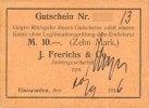DEUTSCHLAND - NOTGELDSCHEINE (1914-1923) A - J  Einswarden. Frerichswerft. Billet. 10 mark 20.9.1916. N° 13 !