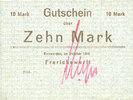 DEUTSCHLAND - NOTGELDSCHEINE (1914-1923) A - J  Einswarden. Frerichswerft. Billet. 10 mark octobre 1918, signature en rouge