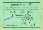 DEUTSCHLAND - NOTGELDSCHEINE (1914-1923) A - J  Einswarden. Frerichswerft. Billet. 1 mark 14.9.1916. N° 9 !