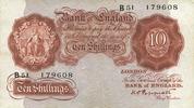 ANDERE AUSLÄNDISCHE SCHEINE  Grande Bretagne. Billet. 10 shillings (1934-39)