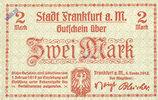 DEUTSCHLAND - NOTGELDSCHEINE (1914-1923) A - J  Frankfurt am Main. Billet. 2 mark 1.2.1919
