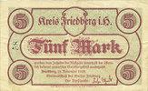 DEUTSCHLAND - NOTGELDSCHEINE (1914-1923) A - J  Friedberg. Kreis. Billet. 5 mark 18.11.1918. N° 58 !