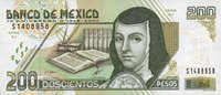25.8.2000 OTHER FOREIGN NOTES Mexique. Billet. 200 pesos 25.8.2000 I  70,00 EUR  +  7,00 EUR shipping