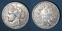 FRANZÖSISCHE MODERNE MÜNZEN  3e république (1870-1940). 2 francs Cérès, 1894A