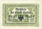 DEUTSCHLAND - NOTGELDSCHEINE (1914-1923) A - J  Goslar. Stadt. Billet. 5 mark 1.11.1918