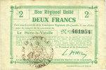 FRANZÖSISCHE NOTSCHEINE  Le Hérie-la-Viéville (02). Commune. Billet. B.R.U., 2 francs