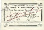 FRANZÖSISCHE NOTSCHEINE  Marcq-en-Ostrevent (59). Commune. Billet. 1 franc, émission 1915, série D