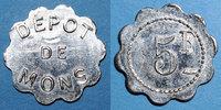 FRANZÖSISCHE NOTMÜNZEN  Le Puy (43). Dépot de Mons (prisonniers de Guerre). 5 francs